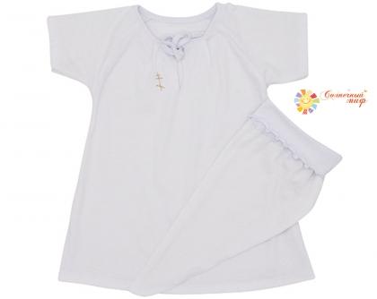 для крещ.: рубашка, косынка (кулир)