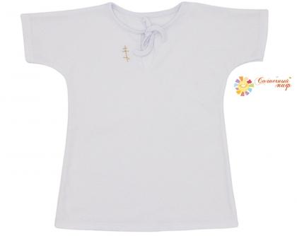 Рубашка - кофточка для крещения (кулир)