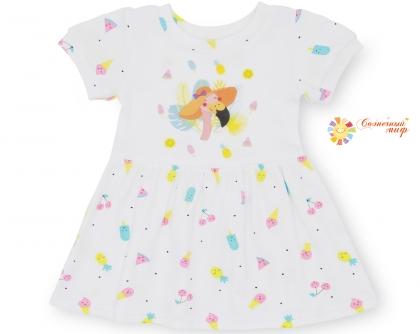 "Платье №4 короткий рукав ""Мороженое"" (интерлок)"
