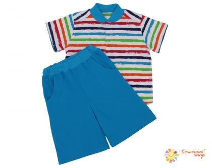 Костюм №3 (Бермуды-шорты, рубашка) кулир