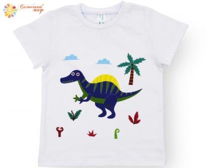 """Футболка детская универсальная """"Динозавры 2.0"""" (кулир)"""