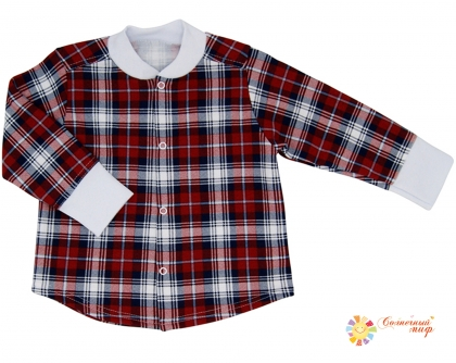 Рубашка - кофточка на кнопках (футер)