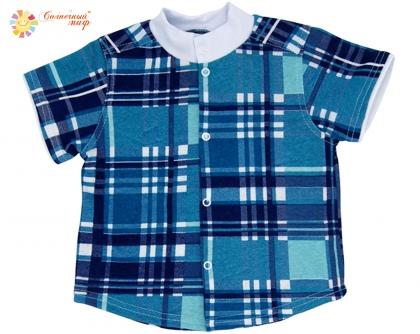 Рубашка - кофточка короткий рукав (кулир)